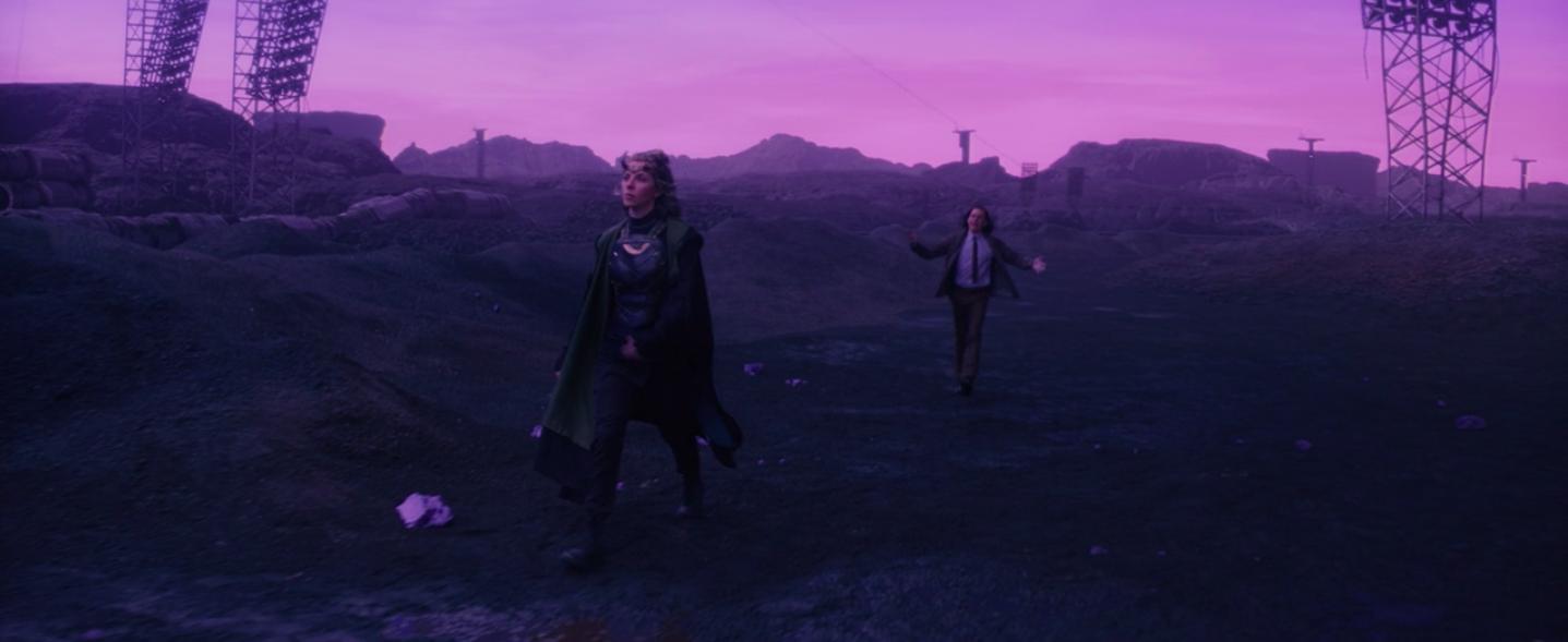 Loki walking after Sylvie