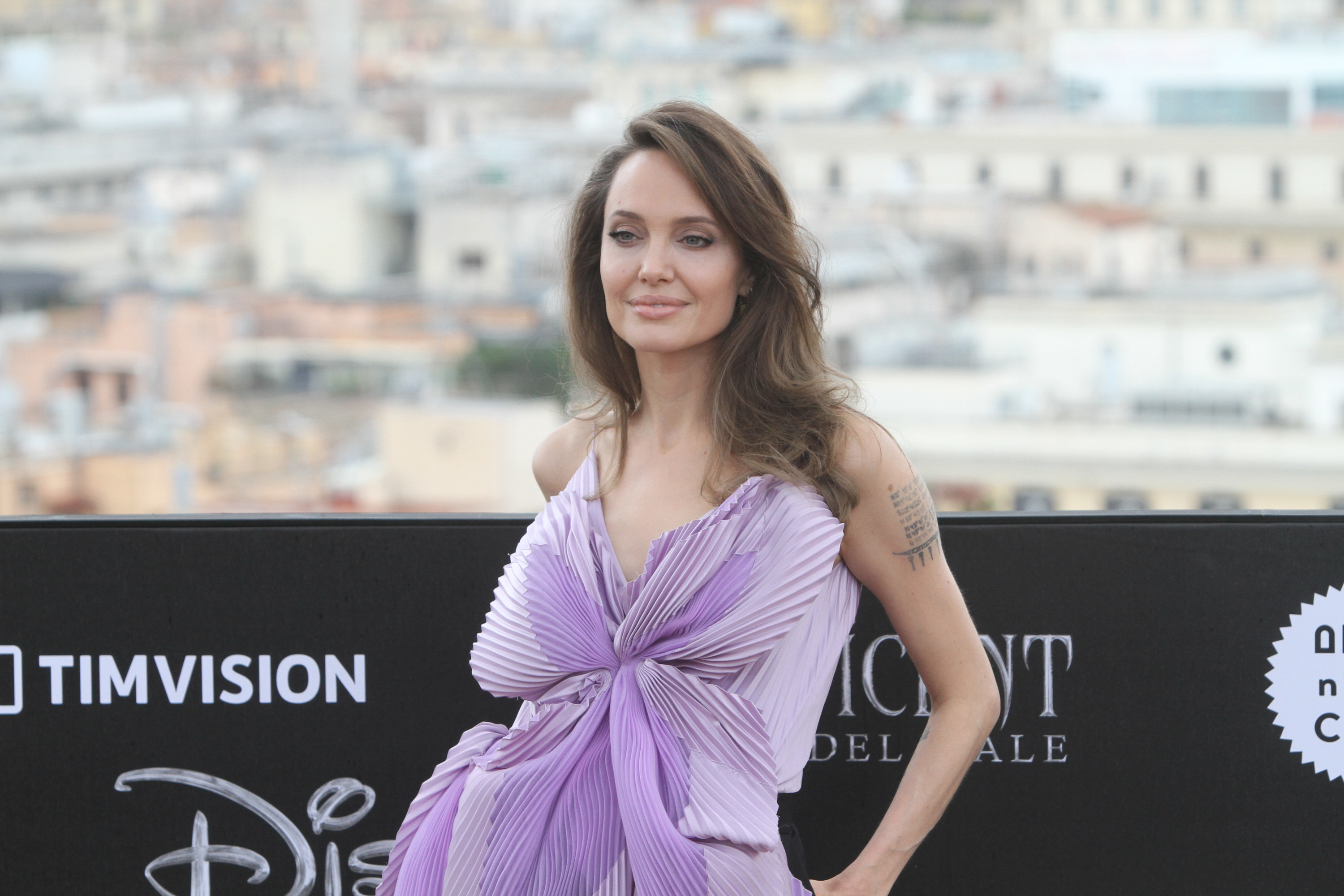 """Angelina Jolie make the photocall for the movie """"Maleficent: Mistress of Evil"""" at Hotel de la Ville"""