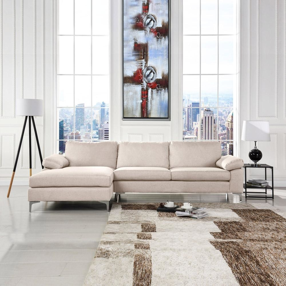 lifestyle image of the linen couch in beige