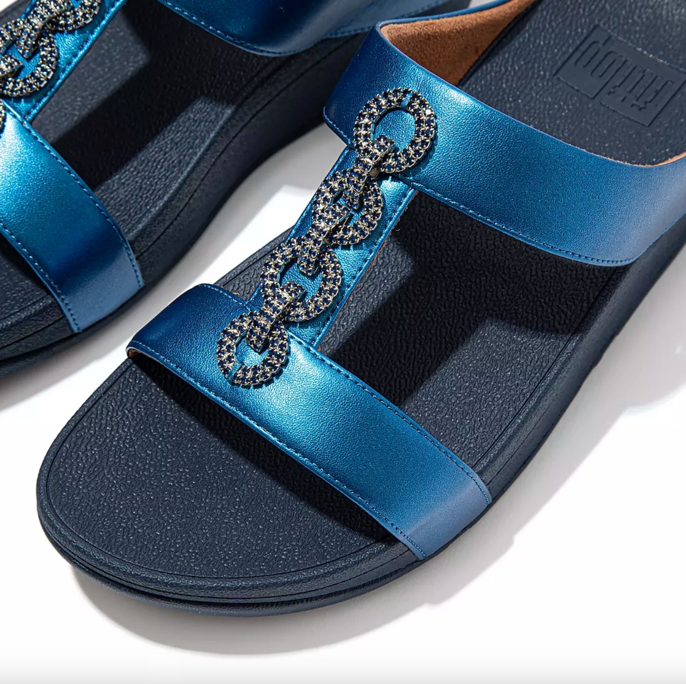 the sparkle sandals in sea blue