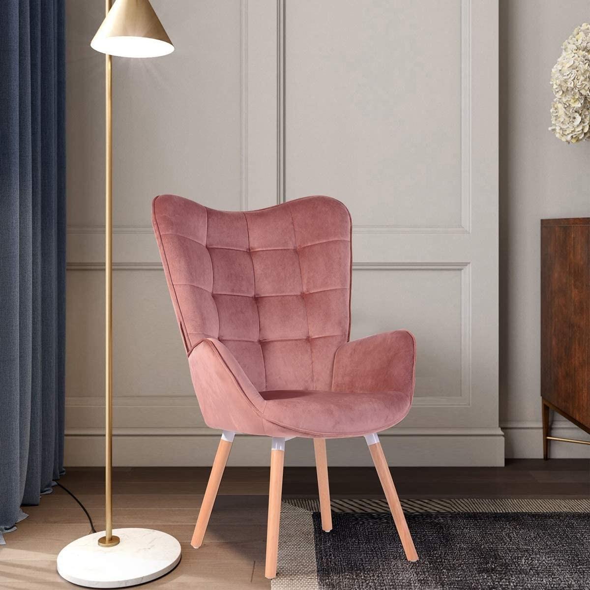 The chair beside a light