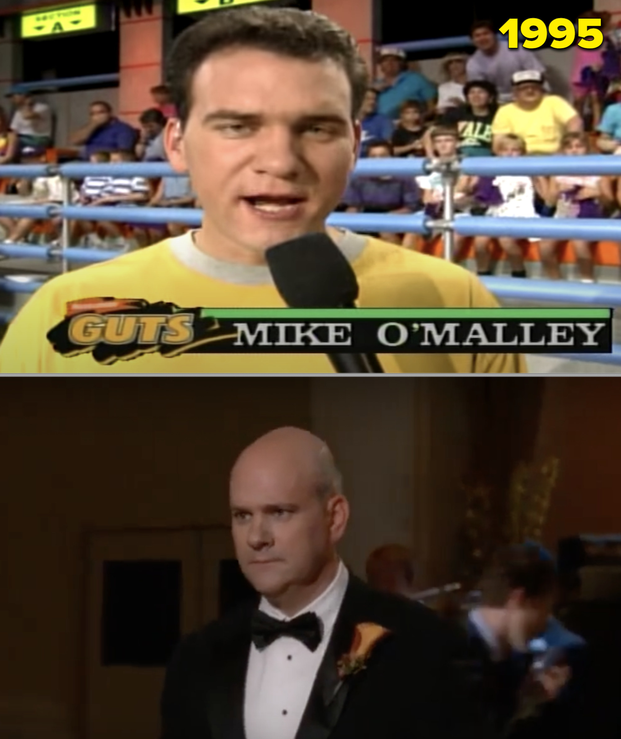 """Mike hosting """"Guts"""" on Nick in the '90s vs. him as Kurt's dad on """"Glee"""""""