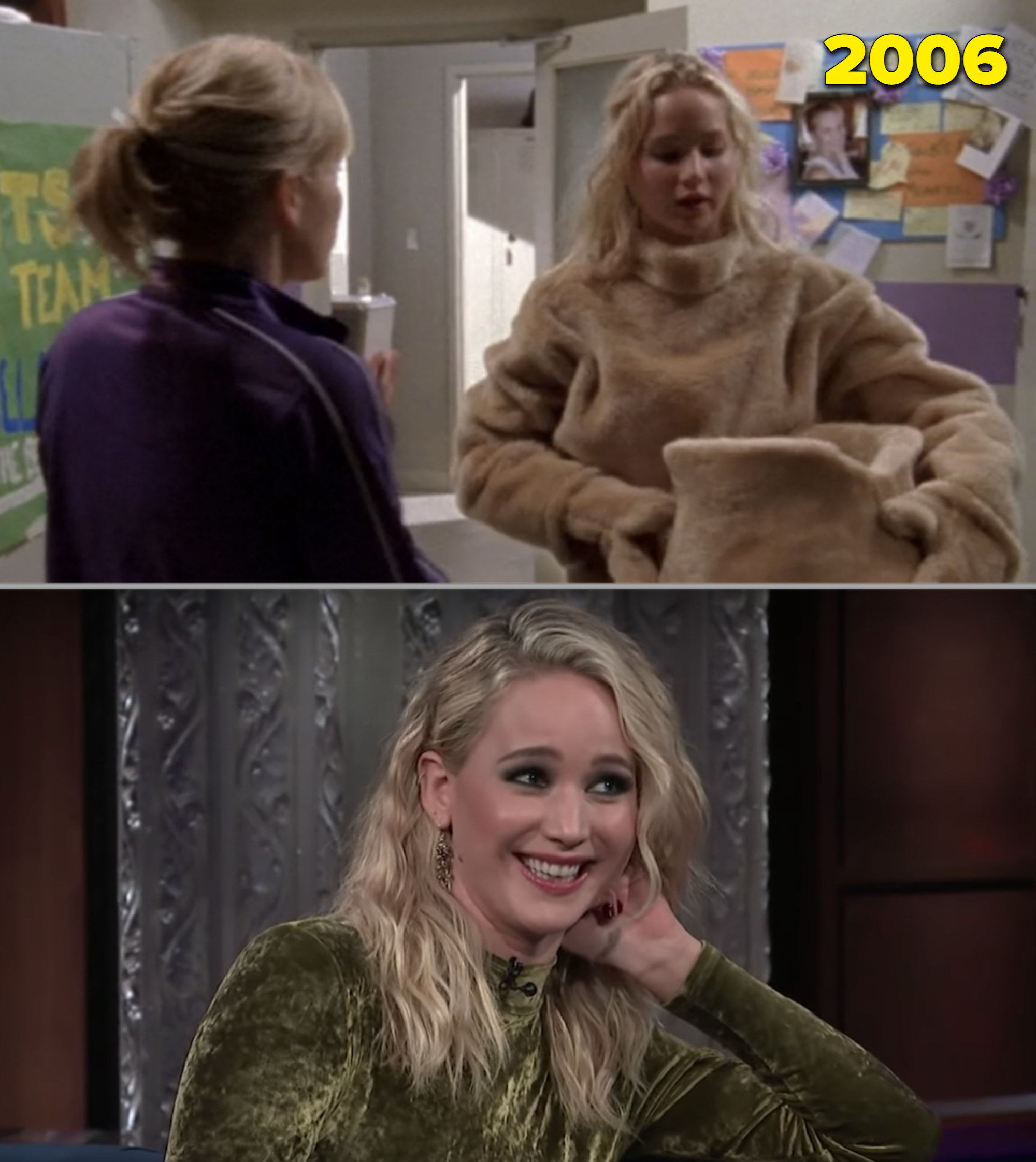 """Jennifer Lawrence in a bear costume on """"Monk"""" vs. her being interviewed as an adult"""