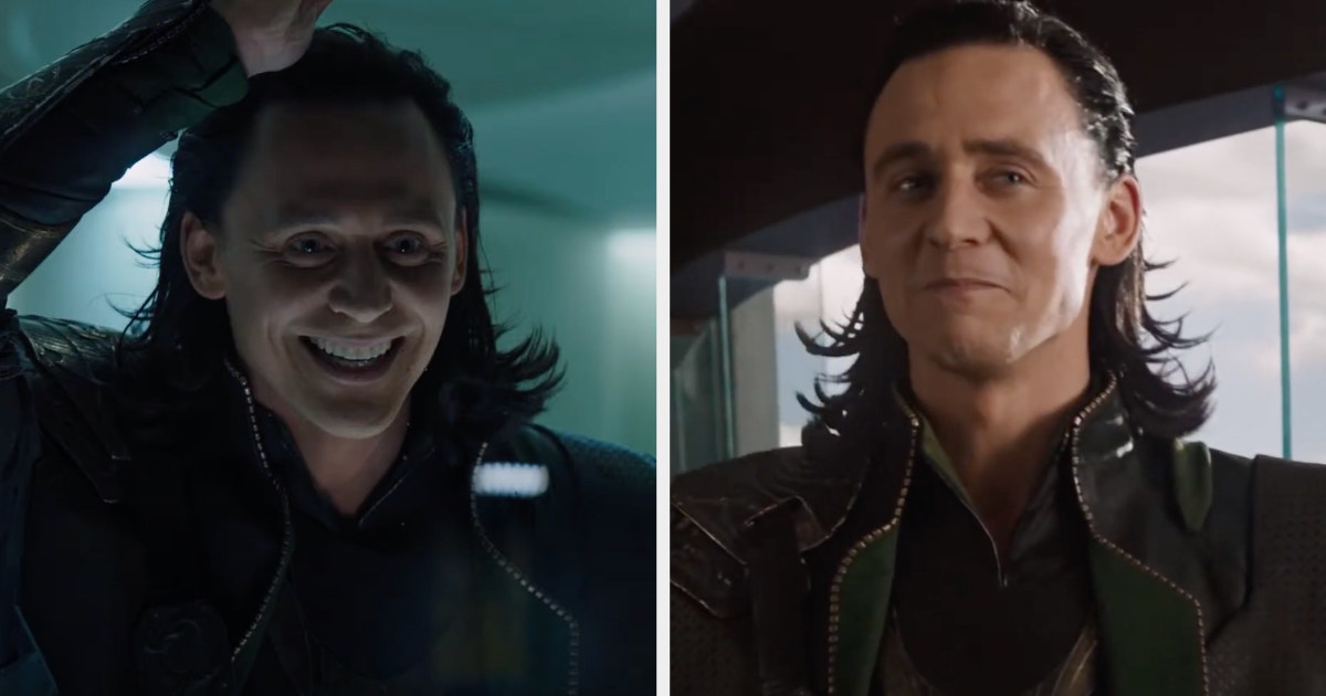 Loki's hair in Avengers was slicked back the top and very spiky at the bottom