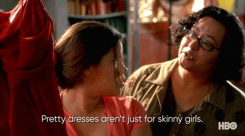 """America Ferrera shopping for dresses and store clerk tells her, """"pretty dresses aren't just for skinny girls"""""""