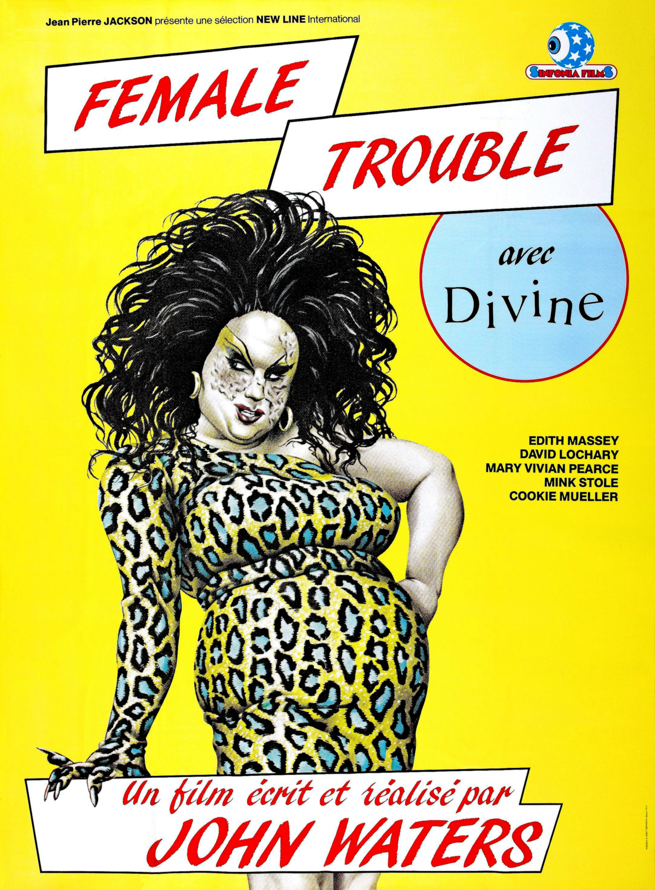 DIvine on a poster for Female Trouble