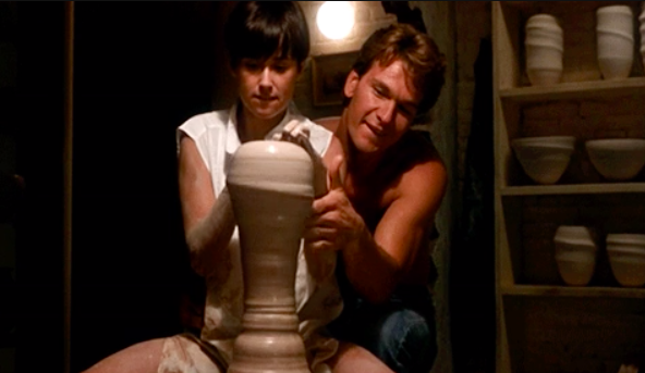 Ghost is the Patrick Swayze movie with the pottery scene