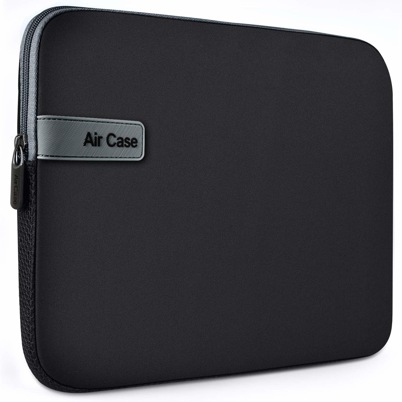 Black padded laptop sleeve