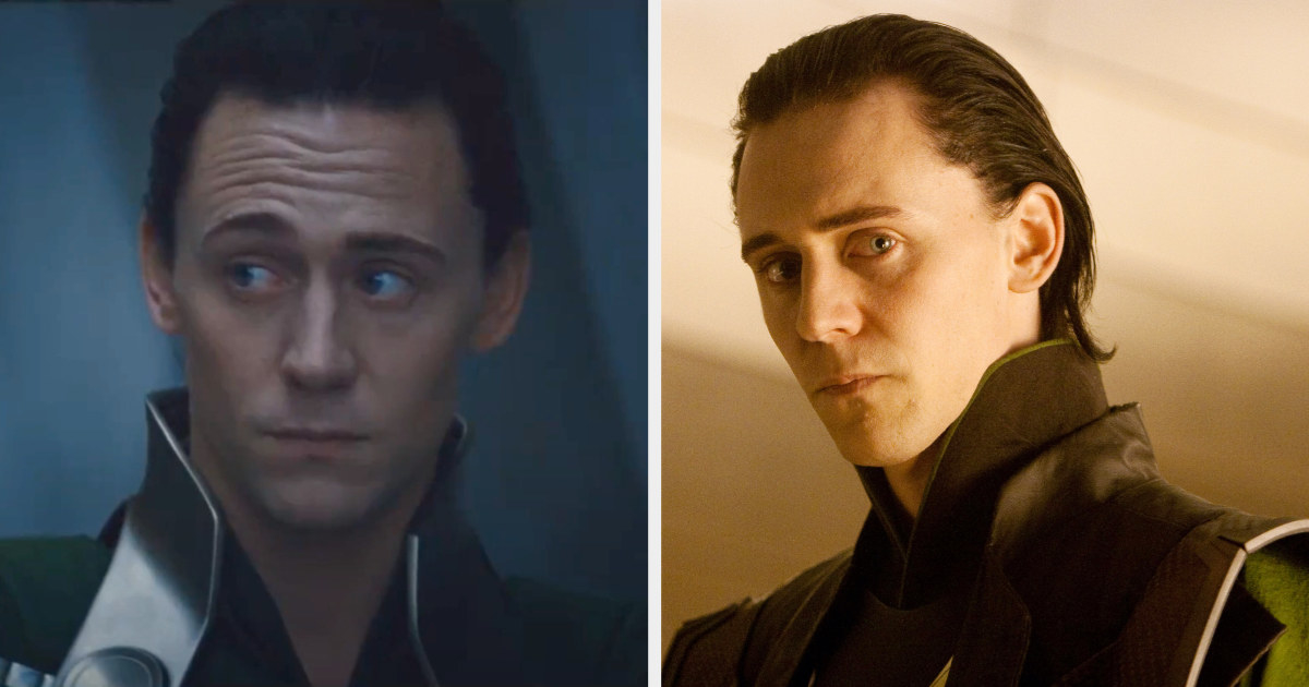 His hair during his first appearance in Thor was short and completely slicked down