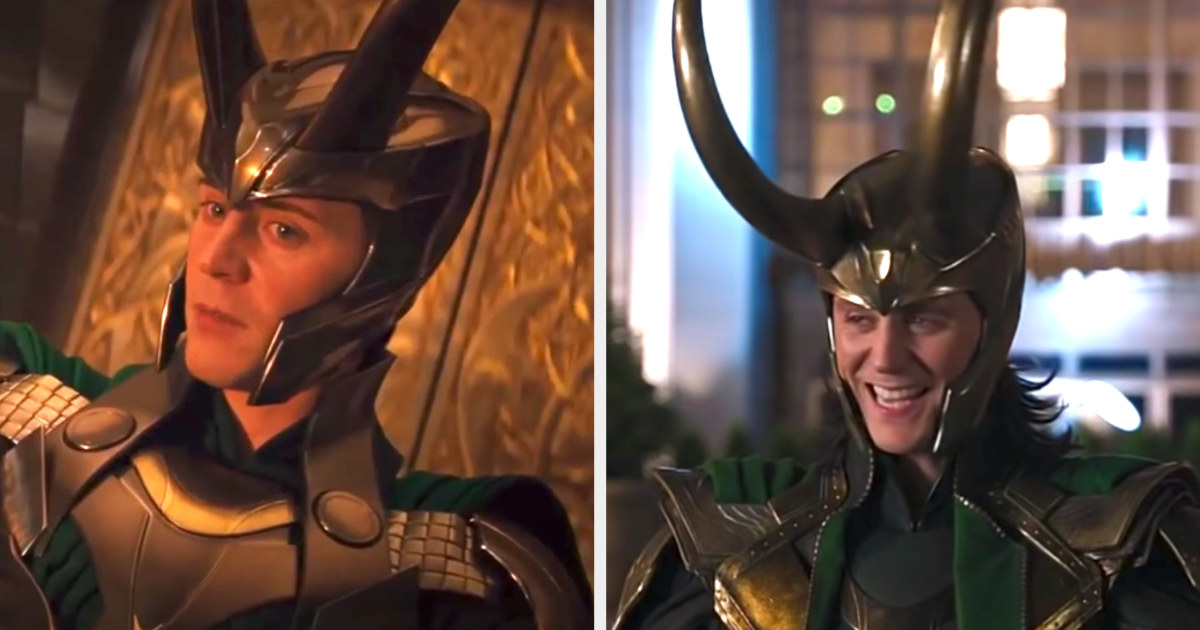 Loki's first two helmets were huge and covered his whole head