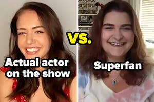 Kaylee Bryant, an actual actor on the show, vs. Nora Dominick, a Vampire Diaries superfan