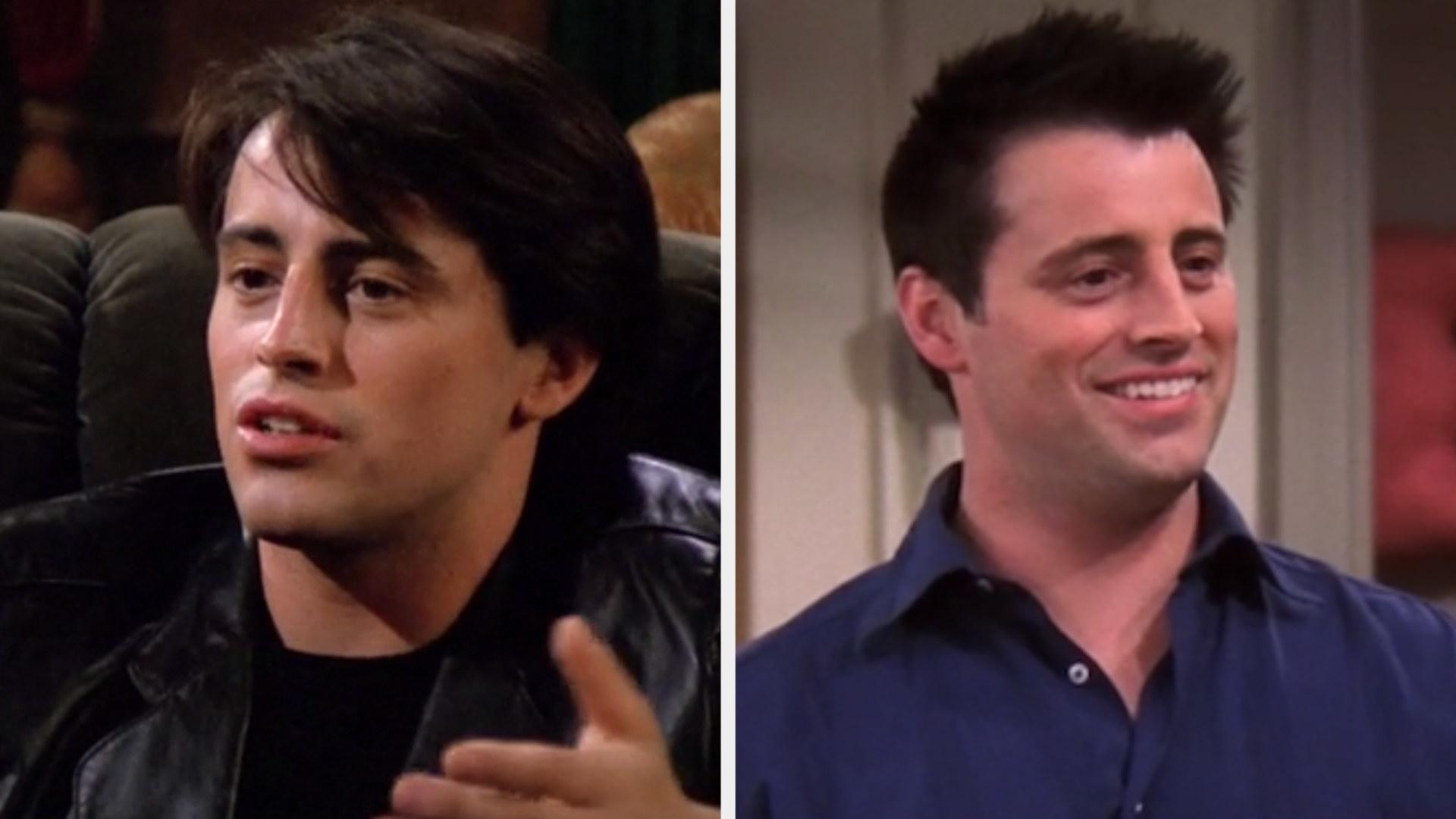 "Matt LeBlanc in the first episode of ""Friends"" vs. the last episode"