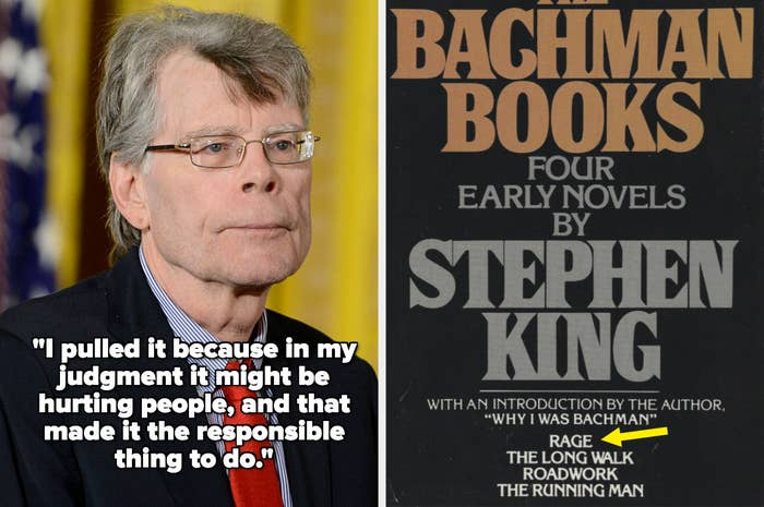 Stephen King with quote: I pulled it because in my judgment it might be hurting people, and that made it the responsible thing to do.