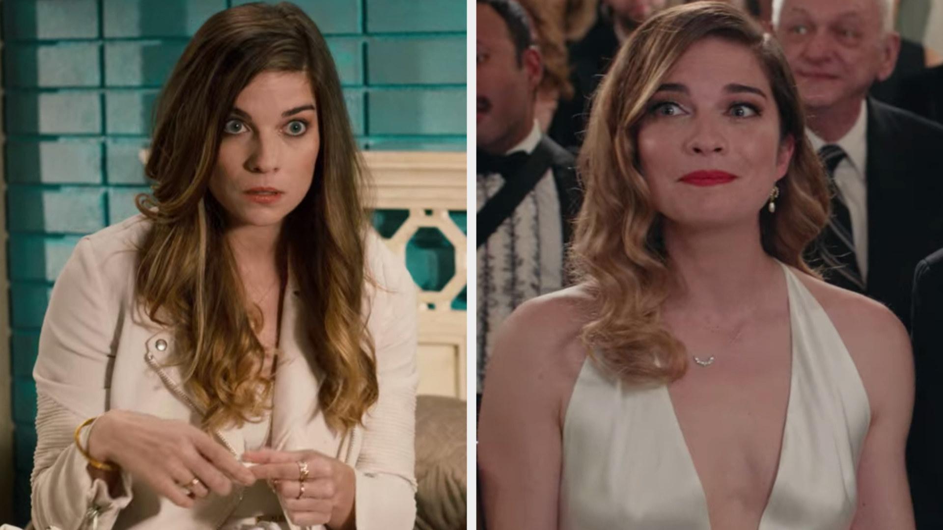 """Annie Murphy in the first vs. last episode of """"Schitt's Creek"""""""