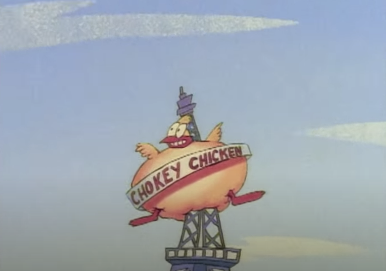 The Chokey Chicken restaurant sign