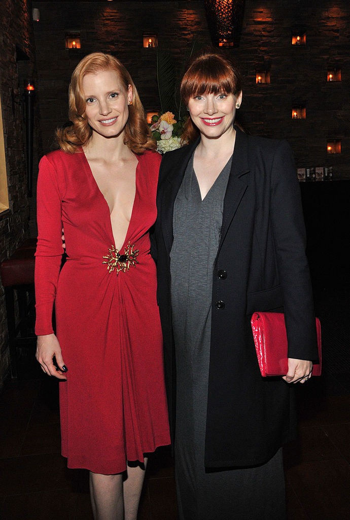 Bryce Dallas Howard (R) and Jessica Chastain arrives at Sony Pictures Classics 20th Anniversary Party