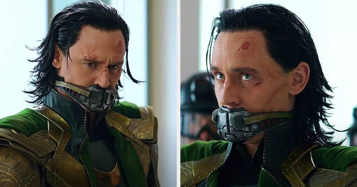 Loki sporting hair with very spiky ends during his appearance in endgame