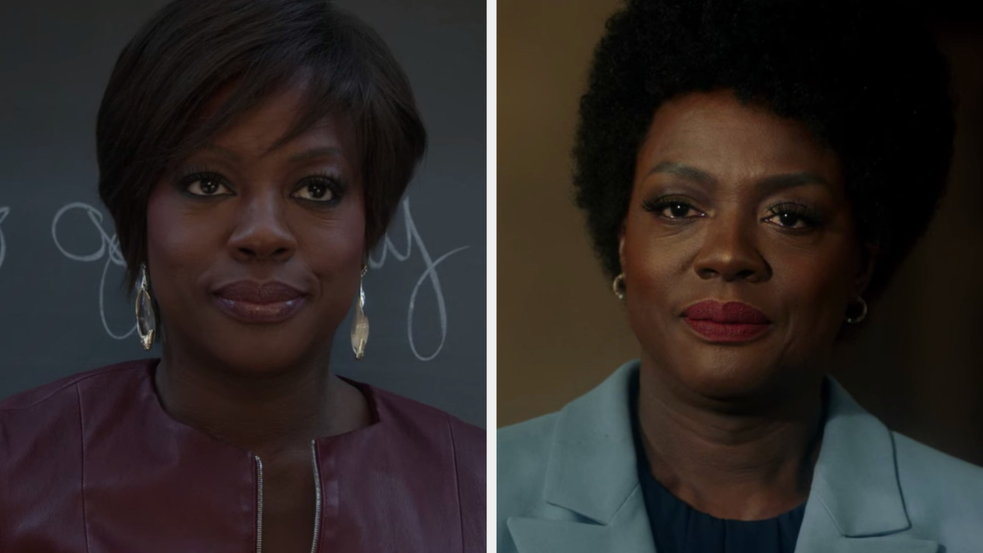 """Viola Davis in the first vs. last episode of """"How to Get Away with Murder"""""""