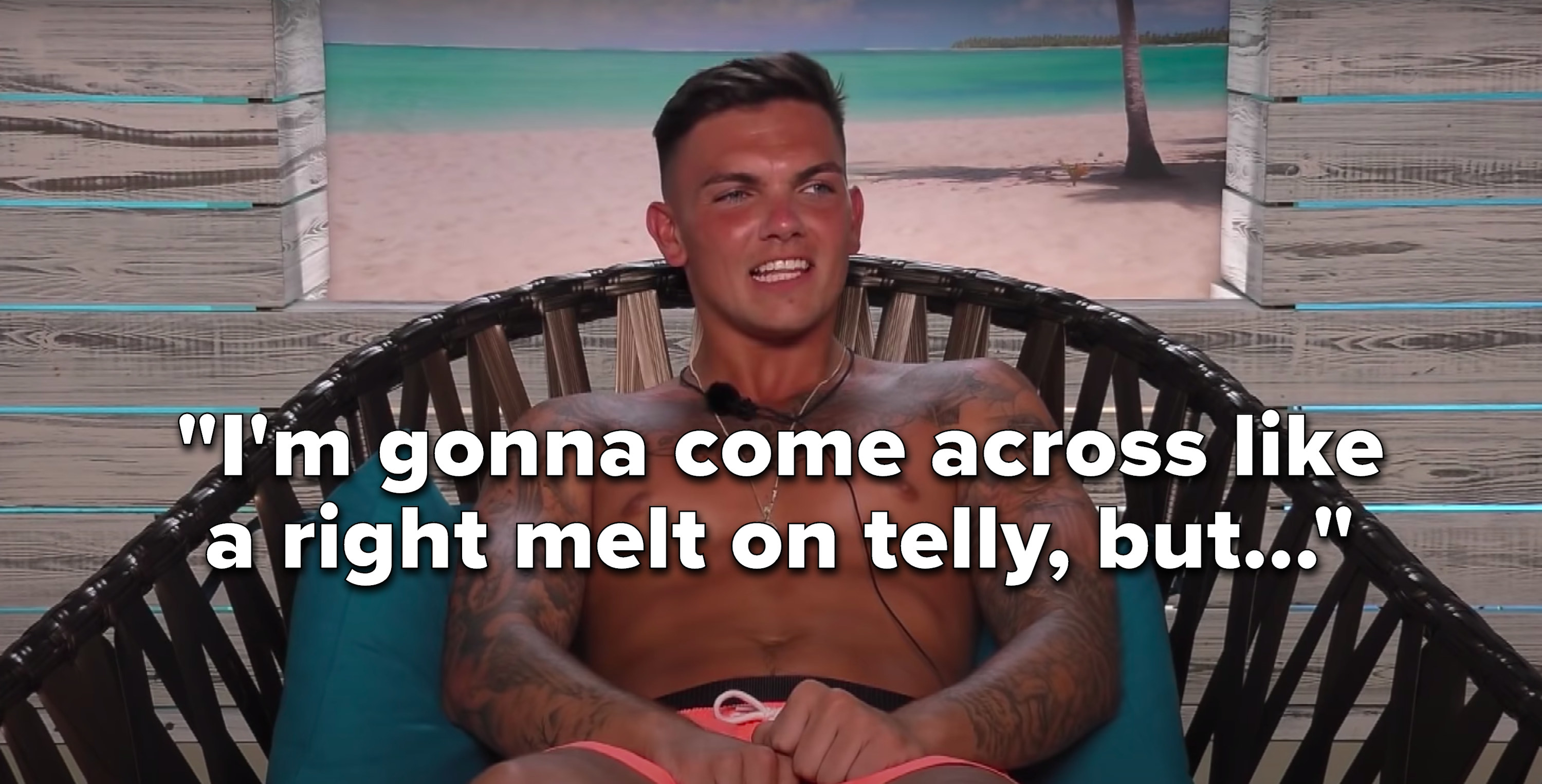 """Sam Gowland says, """"I'm gonna come across like a right melt on telly, but"""""""
