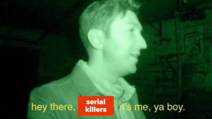 Shane Madej looking for demons on BuzzFeed Unsolved