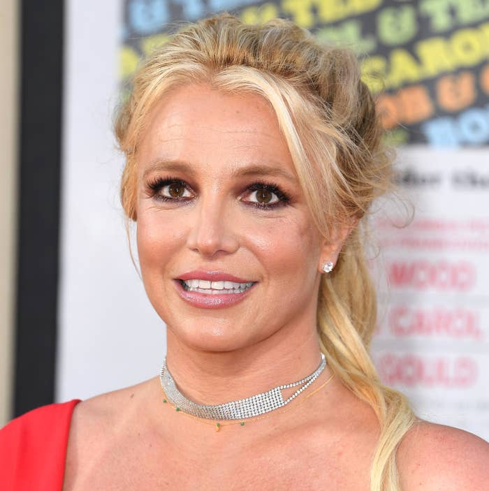 Britney Spears smiles at the premiere of Once Upon A Time In Hollywood