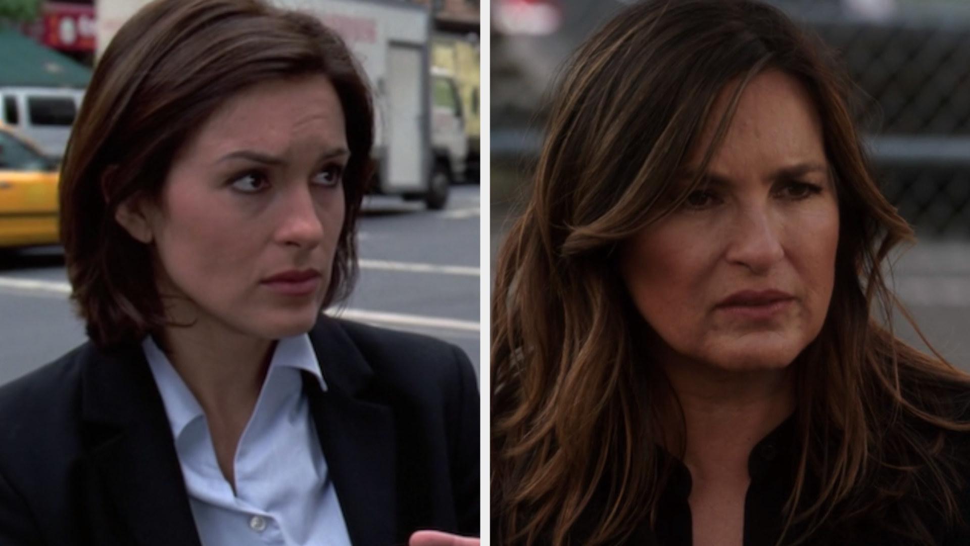 "Mariska Hargitay in the first vs. latest episode of ""Law & Order: SVU"""
