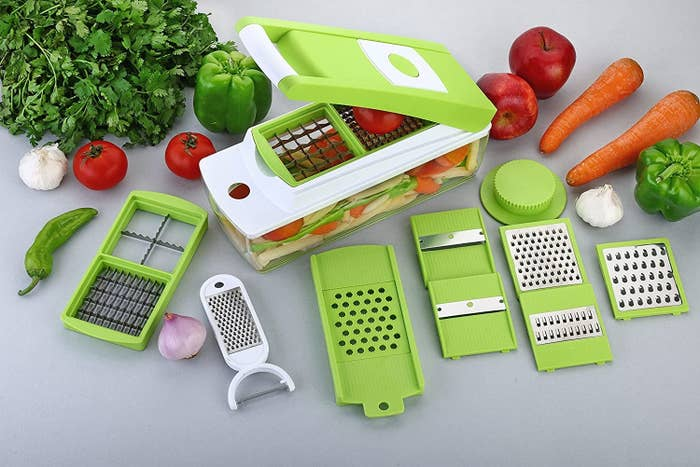 The 15-in-1 kitchen tool pictured with all its attachments