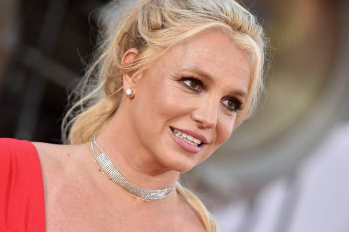 Britney Spears is photographed at a film premiere