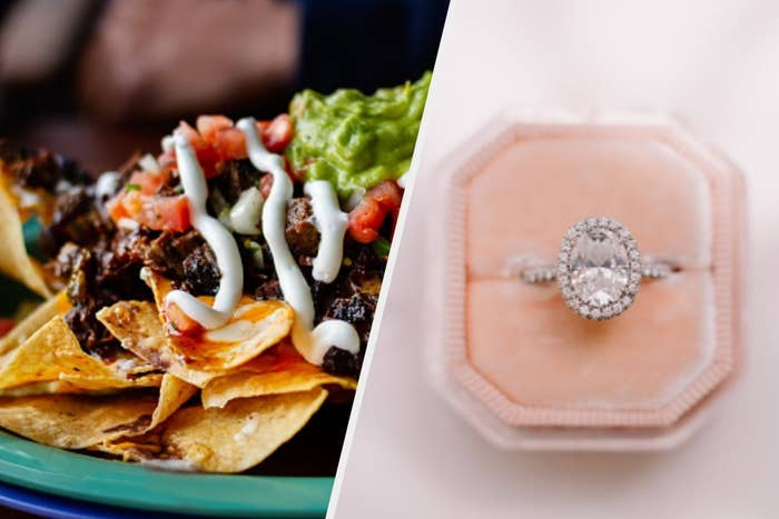 Loaded nachos and engagement ring
