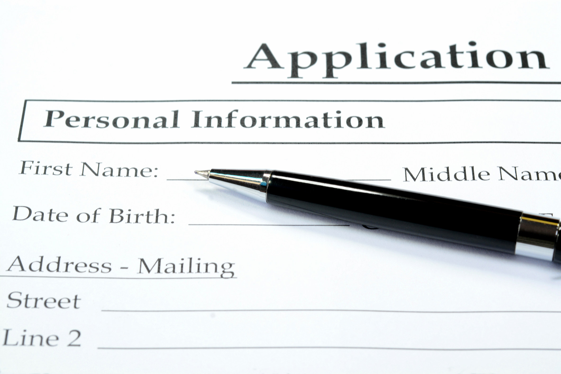 A stock image of an application