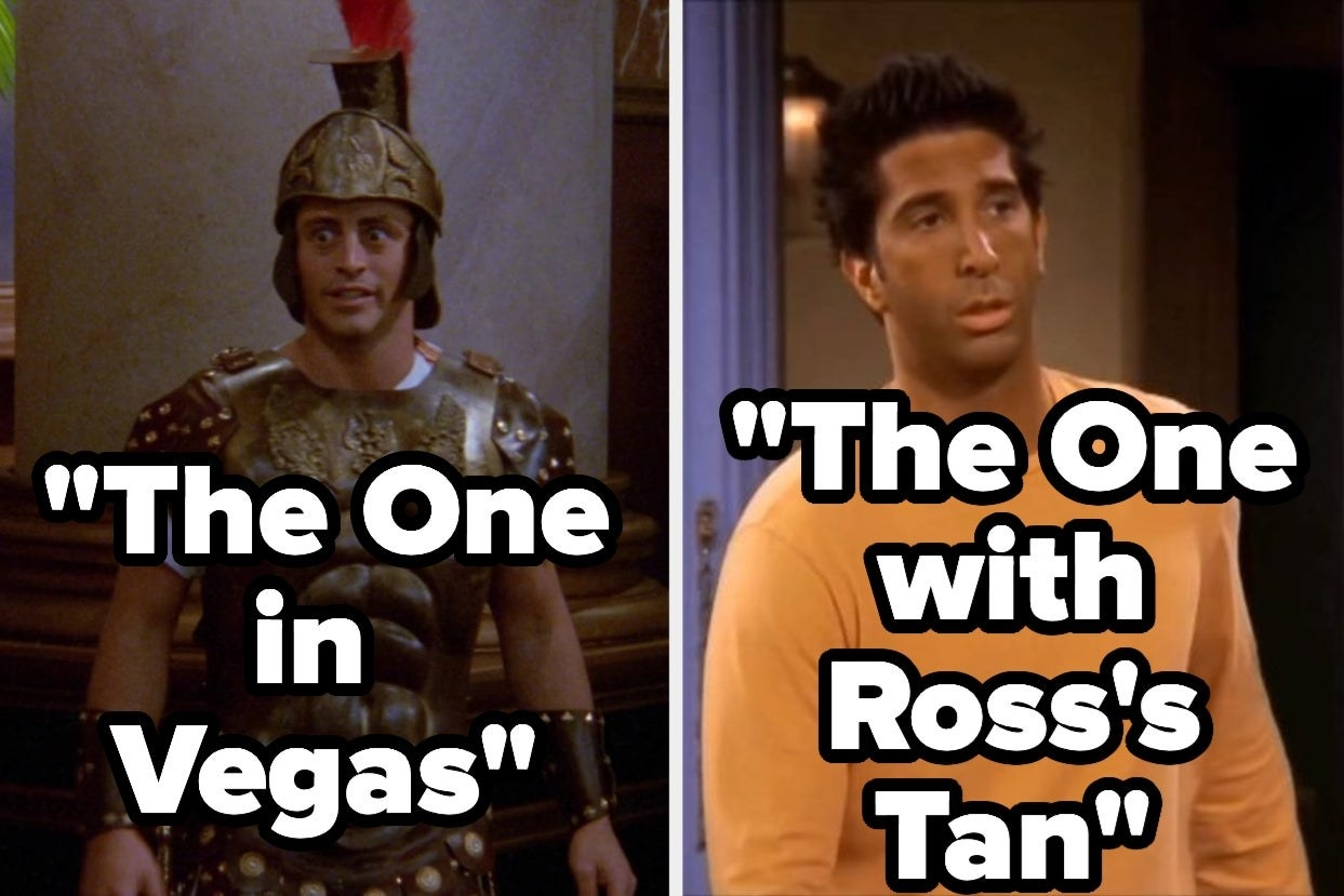 """Friends show screencaps from """"The One in Vegas"""" and """"The One With Ross's Tan"""""""