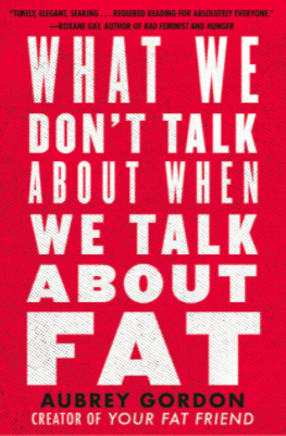"""""""What we don't talk about when we talk about fat"""" book cover"""