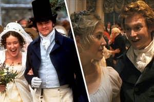 Elizabeth and Darcy's wedding next to Jane and Bingley