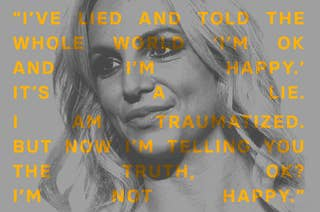 A photo of Britney Spears with a quote overlayed: