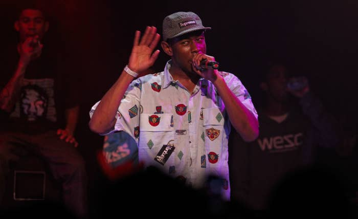 Tyler performing on stage
