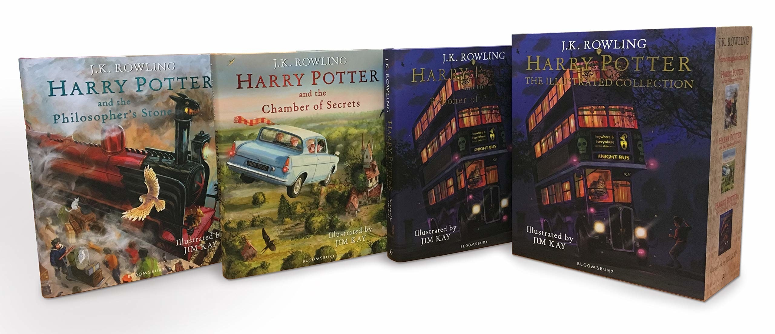 An illustrated hardcover collection of the first 3 books in the Harry Potter series.