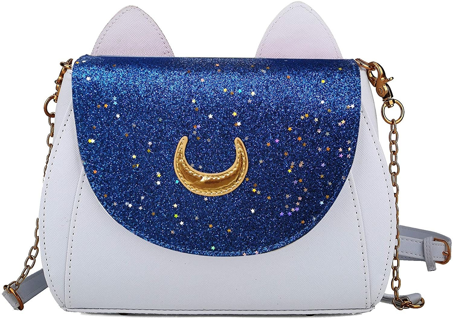 the white and blue Sailor Moon purse
