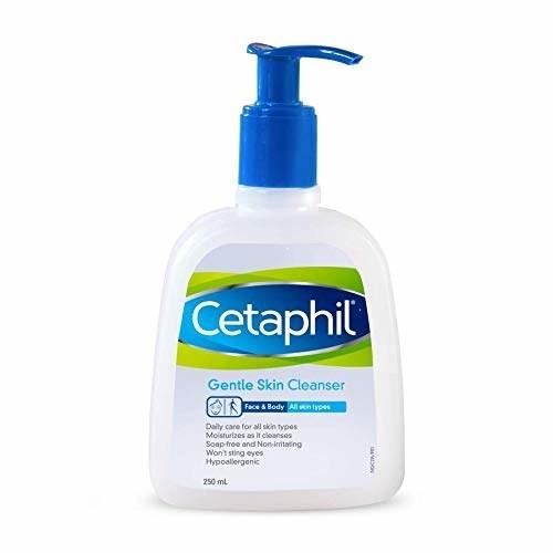 Pump bottle of Cetaphil gentle skin cleanser