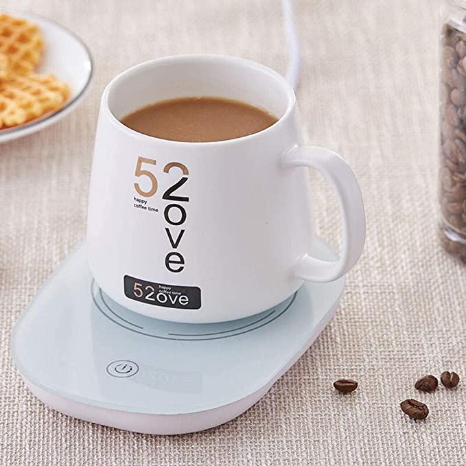 A mug placed on the warmer