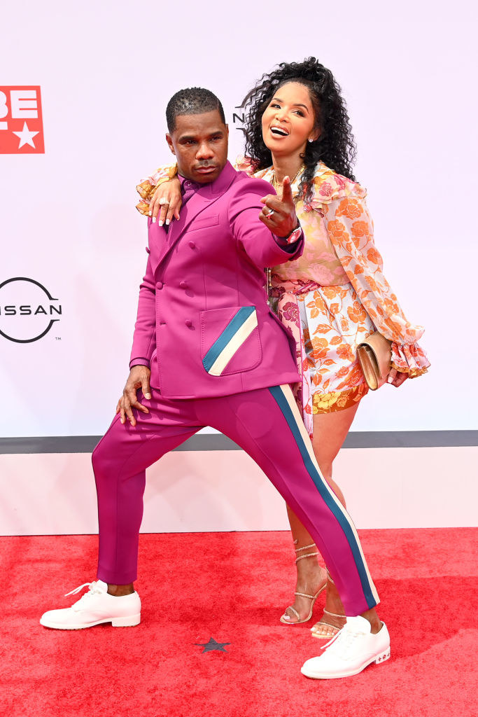 (L-R) Kirk Franklin and Tammy Collins attend the BET Awards 2021
