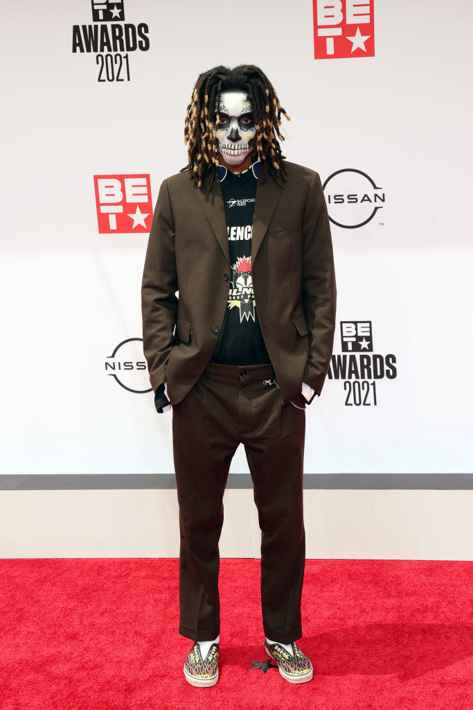 Note Marcato attends the BET Awards 2021 with his face painted