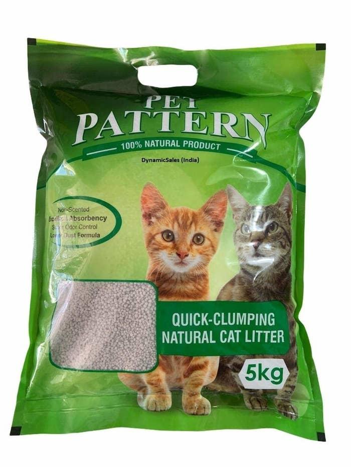 Quick clumping natural cat litter.