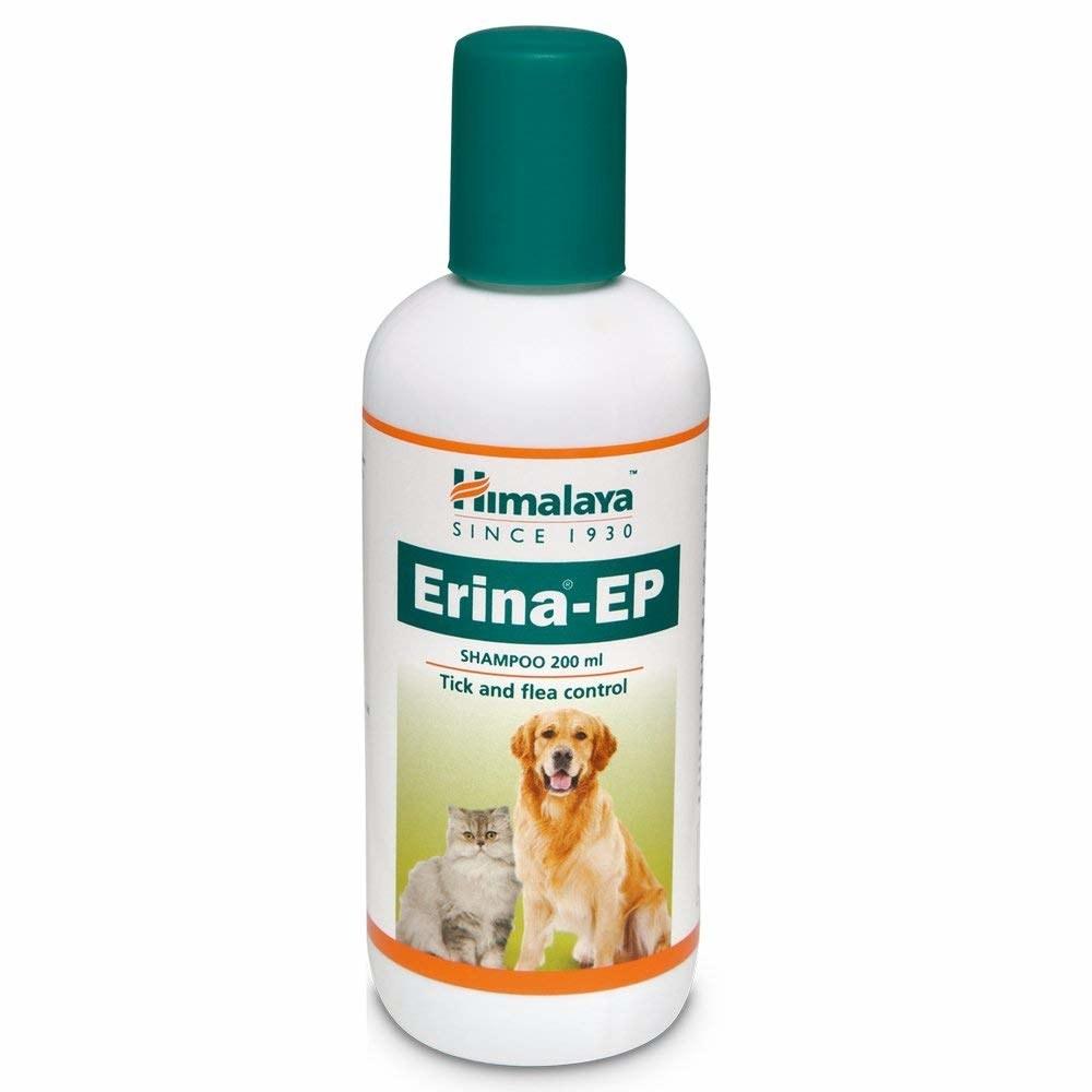 Himalaya tick and flea control shampoo for pets.