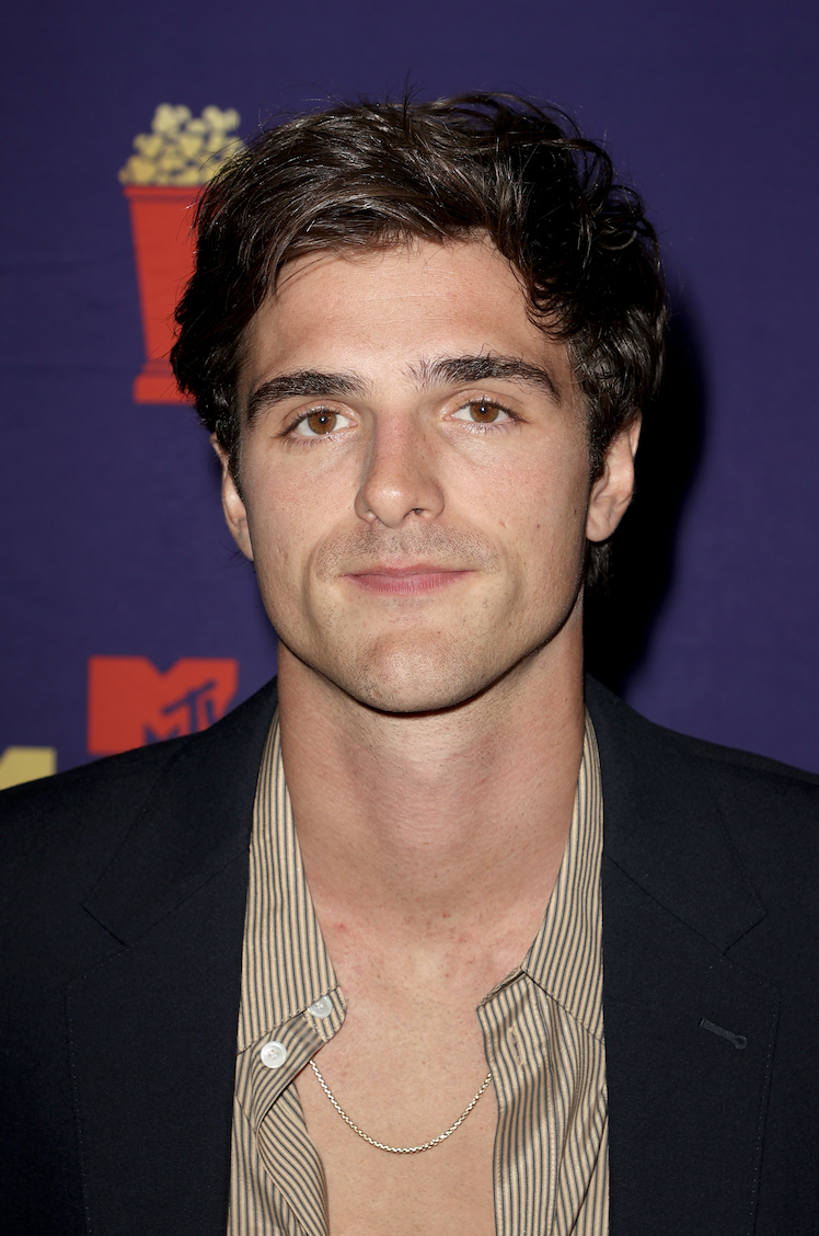 Jacob Elordi poses backstage during the 2021 MTV Movie & TV Awards at the Hollywood Palladium on May 16, 2021 in Los Angeles, California