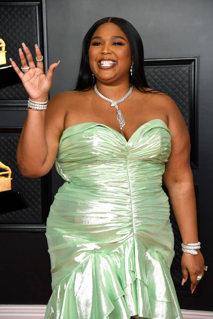 Lizzo attends the 63rd Annual GRAMMY Awards at Los Angeles Convention Center on March 14, 2021 in Los Angeles, California