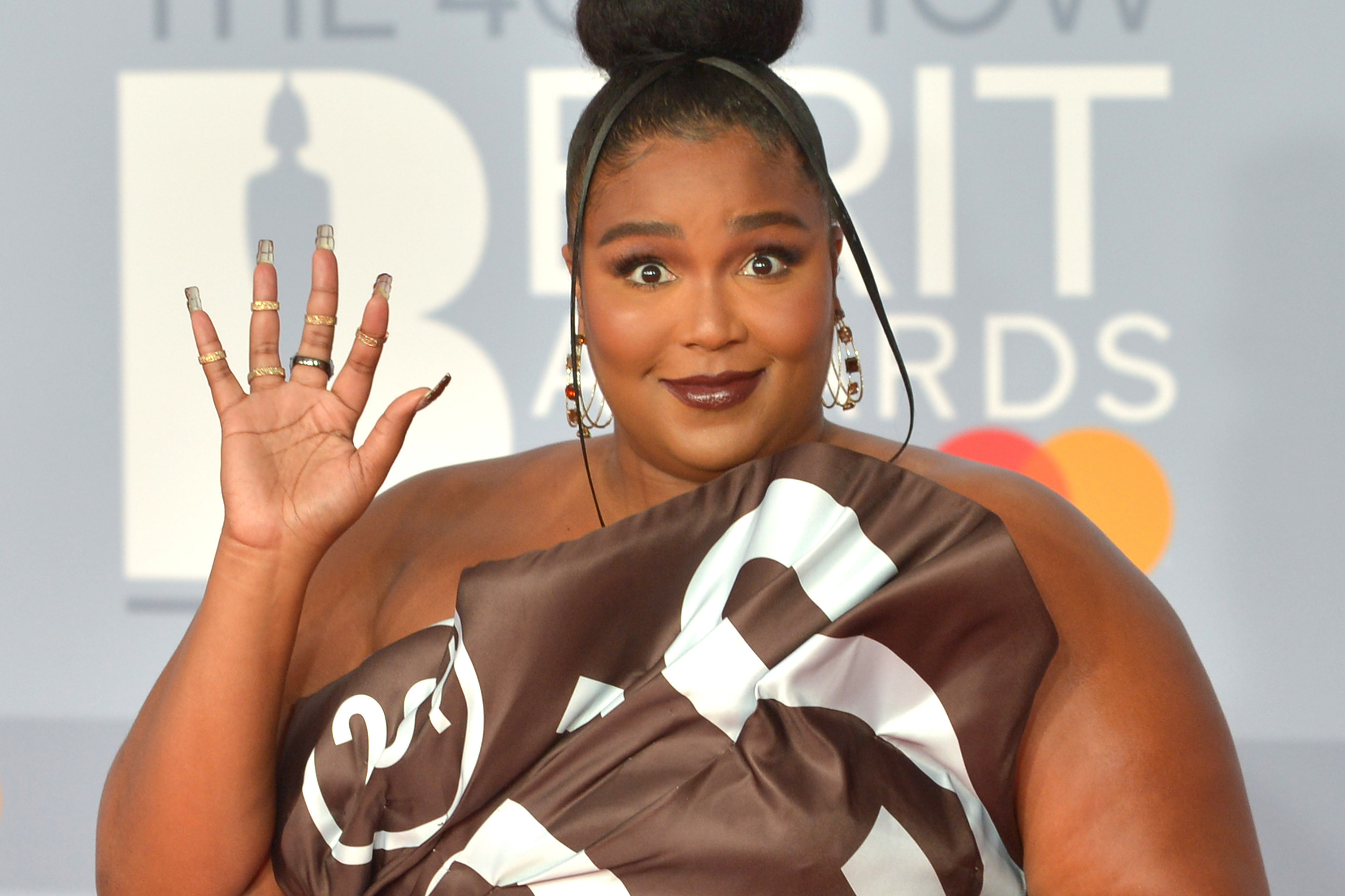 Lizzo attends The BRIT Awards 2020 at The O2 Arena on February 18, 2020 in London, England