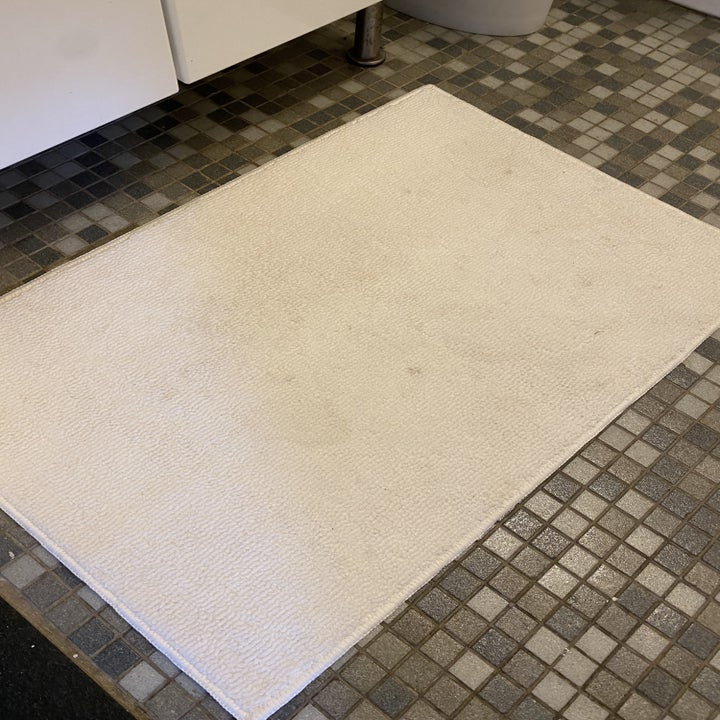 the bathmat after, clean and pristine
