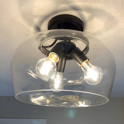 a reviewer photo of the same lampshade now clear