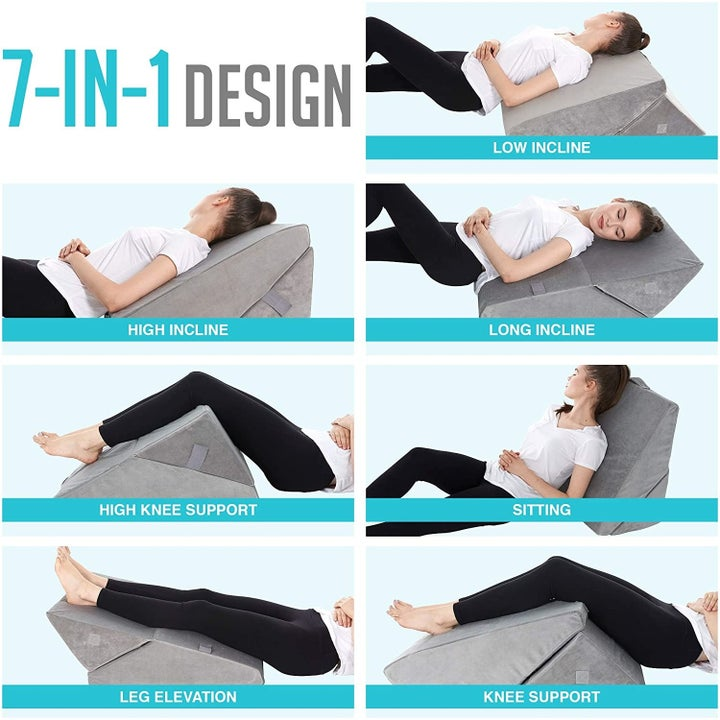 The pillow's seven positions