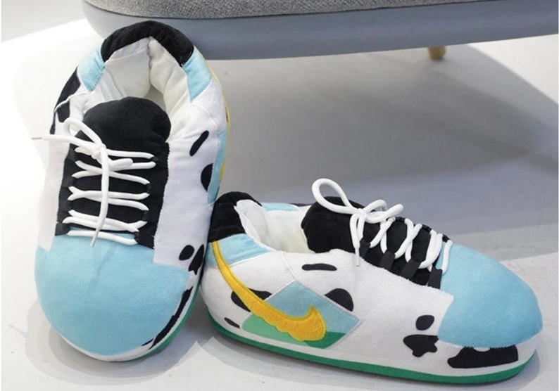 the house slippers that look exactly like the Ben & Jerry's sneakers